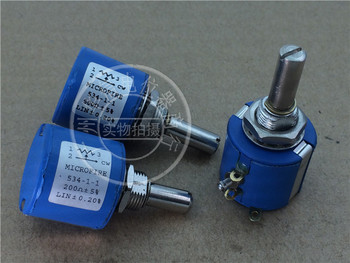 1pcs  534-1-1 200 Euro 500 Euro 1K for printing machine multi-turn potentiometer with tap 4 feet handle length 25MM