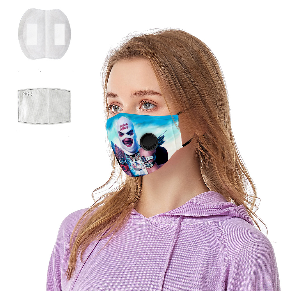 Hip Hop Anuel AA Album Real Hasta La Muerte 3D Breathing Valve Mask + Pm2.5 Face Mask For Men And Women Anti Dust Pollutiont