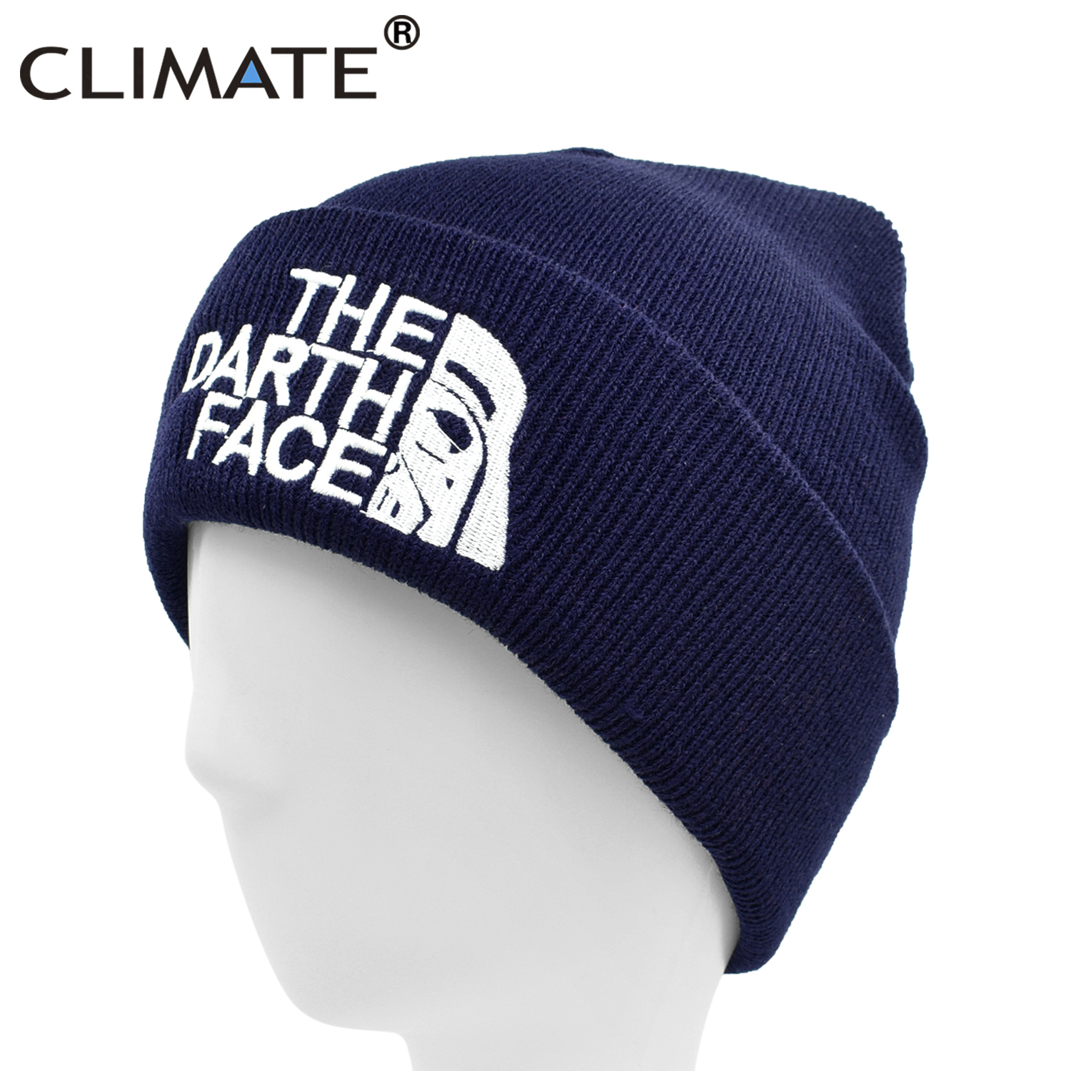 CLIMATE The Darth Face Beanie Star Darth Wars Winter Warm Hat Beanie Warm Soft Knitted Beanies Hat Cap For Adult Men Women