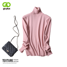 GOPLUS Turtleneck Pink Womens Knitted Sweater Long Sleeve Pullover 2019 Autumn Winter Slim Jumper Clothes Femme