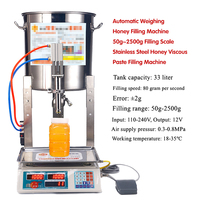 Máquina de enchimento viscosa de aço inoxidável da pasta do mel da escala de enchimento 50g 50 2500g do mel de peso automático