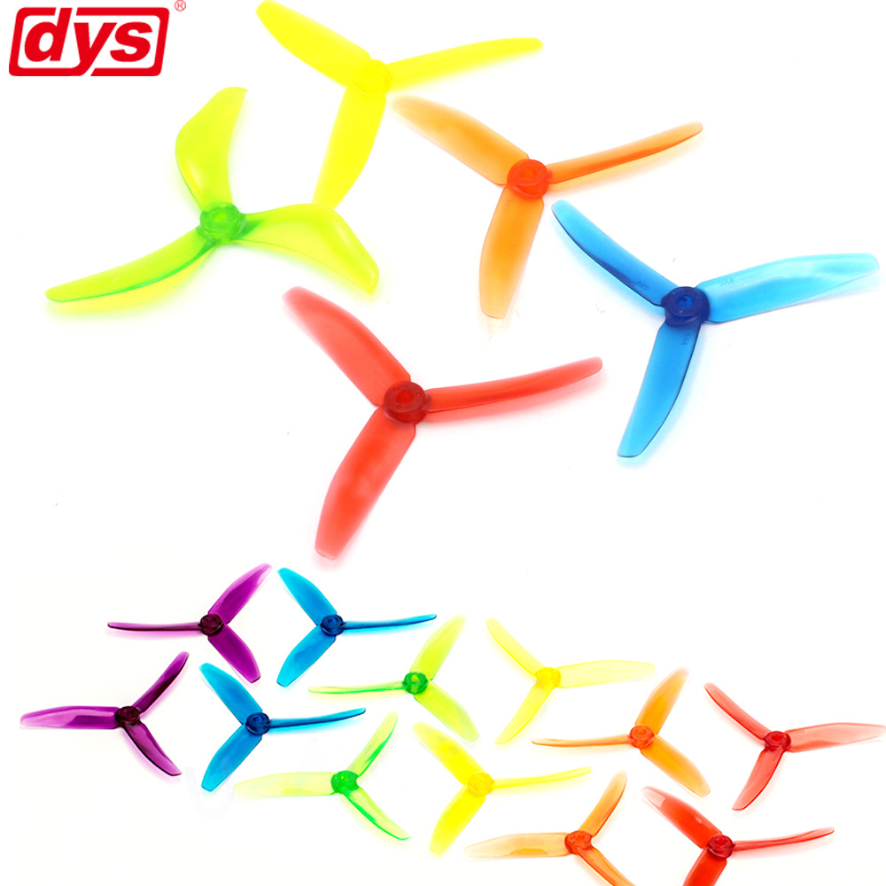 20pcs/lot DYS 5040 XT50403 Tri-Blade CW CCW Propeller FPV Prop PC Material W/ Jelly Color (10 Pair)