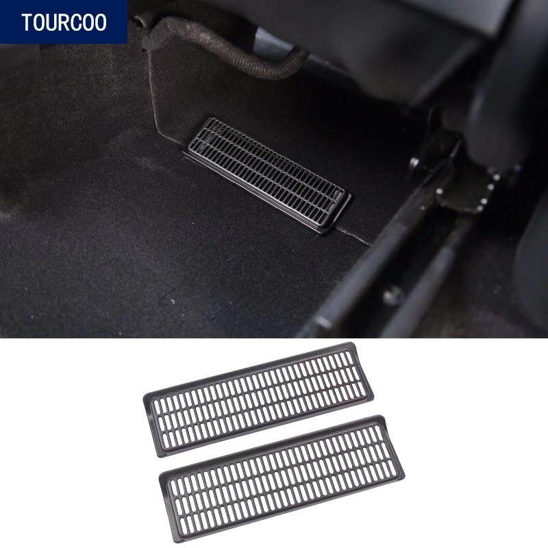 Couvercle anti-poussière de sortie dair sous le siège, pour Tesla Model Y, accessoires de Modification dintérieur de style de voiture