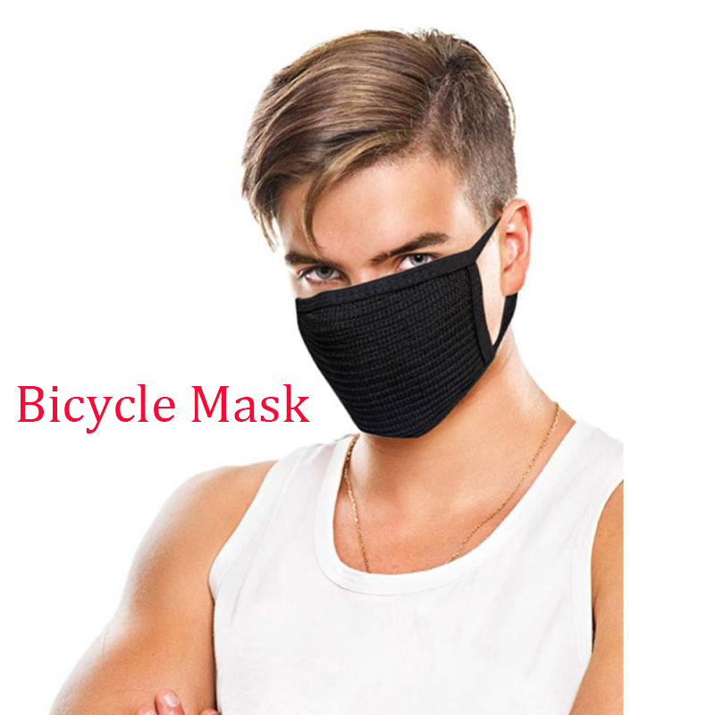 Reusable Face Mask Anti-smog Activated Carbon Mask Riding Anti DustProtection PM2.5 Anti-fog Breathable Masks Wholesale