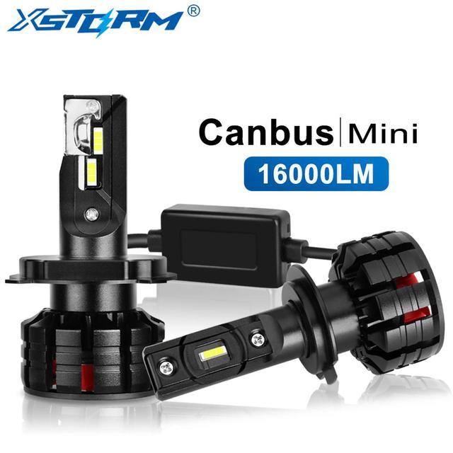 Mini Canbus H4 Led H7 Led H1 H3 H8 H11 HB3 9005 HB4 9006 Lampada sis farları 16000LM Turbo araba ampuller otomotiv