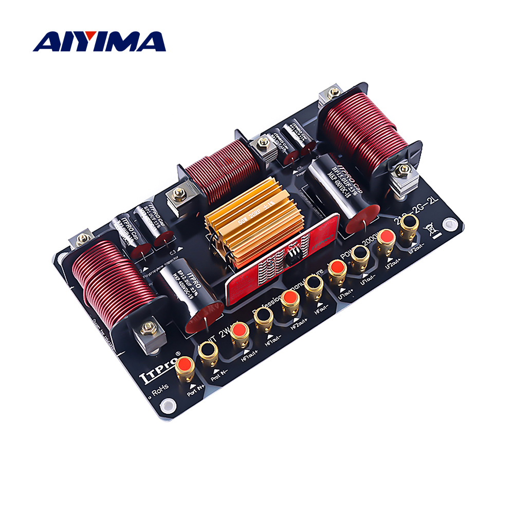 AIYIMA 2000W 2 Way Tweeter Bass Speaker Crossover Two Way Divider Double Treble Woofer Frequency Divider Stage Crossover Filter