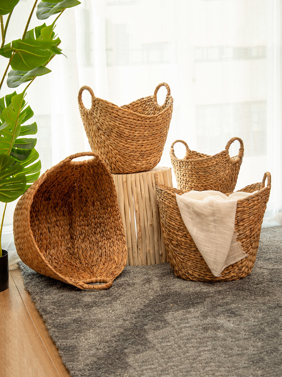 Different Li Northern Europe Rattan Plaited Articles Dirty Clothes Accept Basket Straw Plaited Article Dirty Clothes Basket