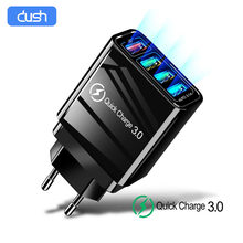 Dush 48W Quick Charger 3.0 Usb Oplader Voor Samsung Iphone Huawei Tablet Qc 3.0 Snelle Wall Charger Us Eu uk Adapte 4 Port Usb(China)