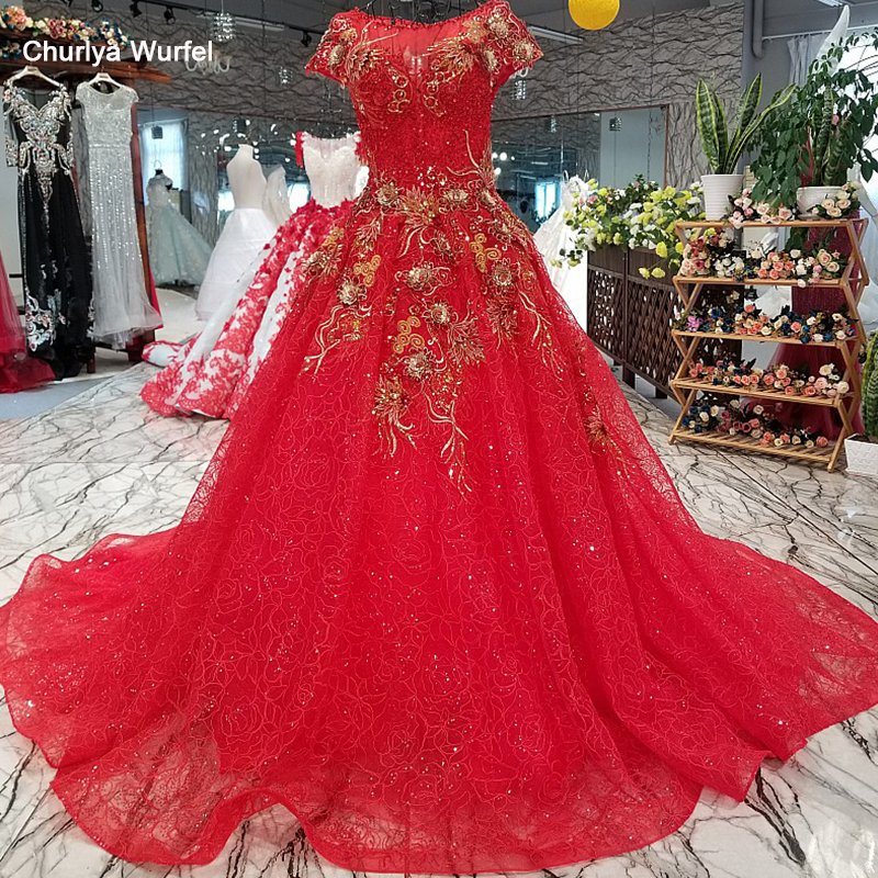 LS24598 simple red beautiful evening dress quick shipping from china o-neck short sleeves a-line cheap wedding party dress 2018