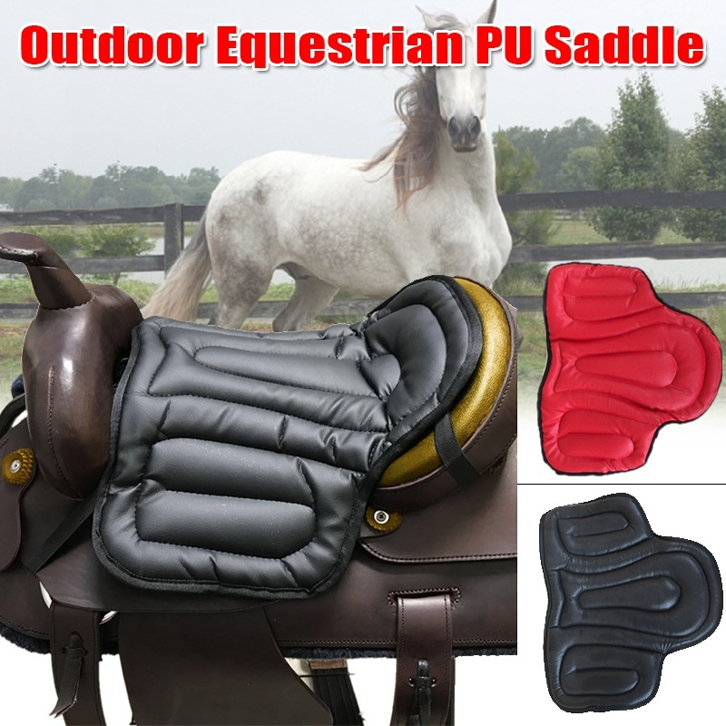 Non-slip PU Leather Horse Saddle Pads Comprehensive Seat Cushion Pad Equestrian Horse Riding Equipment