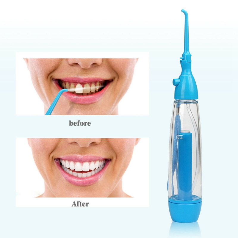 Portable Oral Irrigator Clean The Mouth Wash Your Tooth Water Irrigation Manual Water Dental Flosser ABS No Electricity