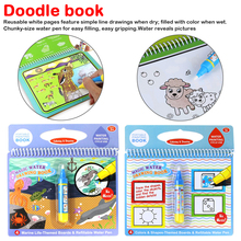 Coloring Book Doodle & Magic Pen Painting Drawing Board For Kids Toys Magic Water Drawing Book Birthday Gift недорого