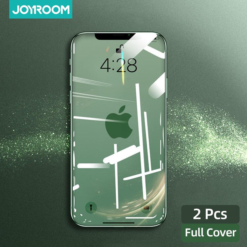 Joyroom 2 шт. защита для экрана из закаленного стекла для iPhone 12 Pro Max 12 мини полное покрытие Защитное стекло для iPhone 12 Pro Max
