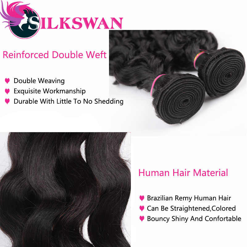 Menselijk Haar Bundels Silkswan 8 - 40 Inch Braziliaanse Haar Bundels Body Wave 1/3/4 Pcs Bundels natuurlijke Kleur Remy Hair Extensions