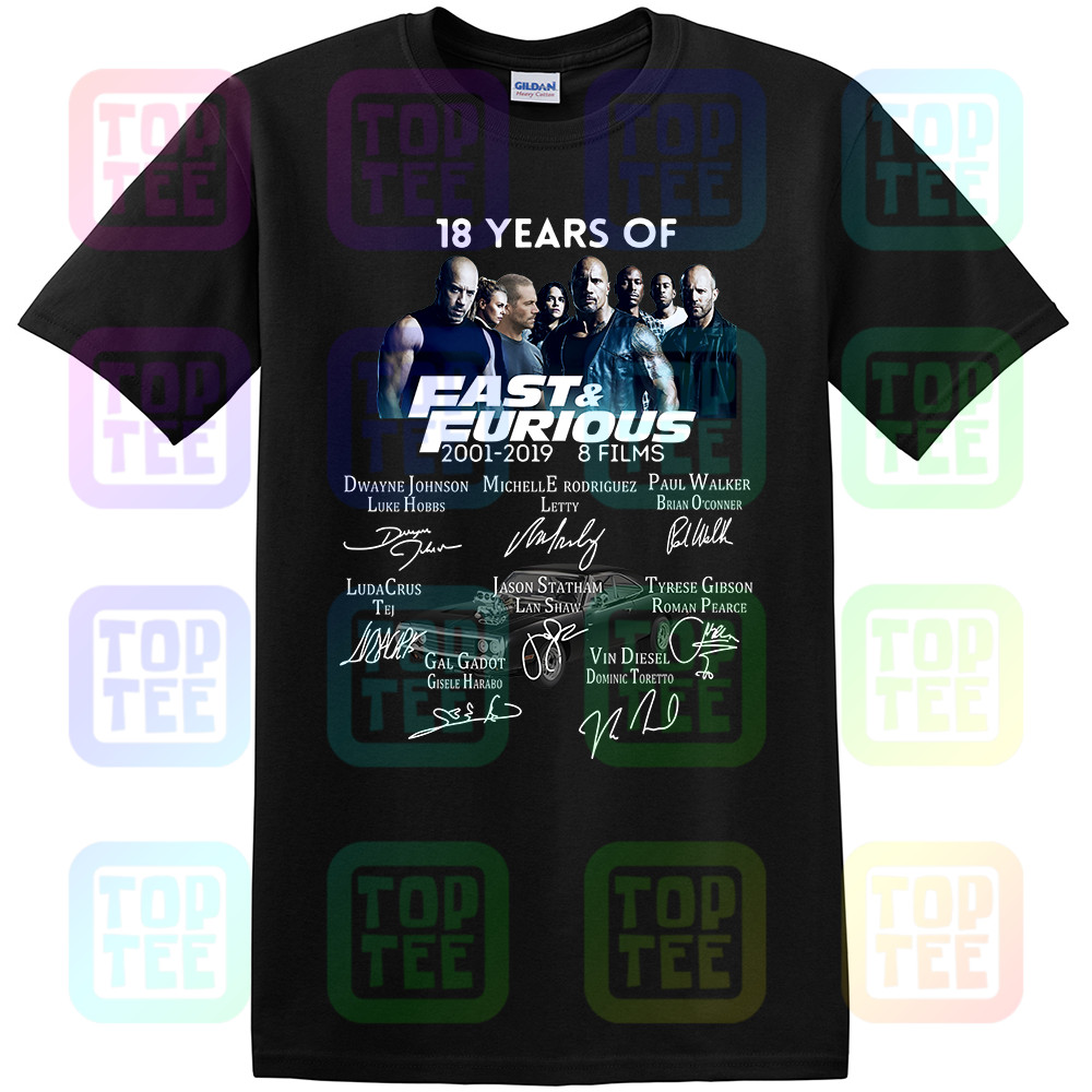 18 Years Of Fast Furious T-Shirt 2001-2019 Signature Shirt