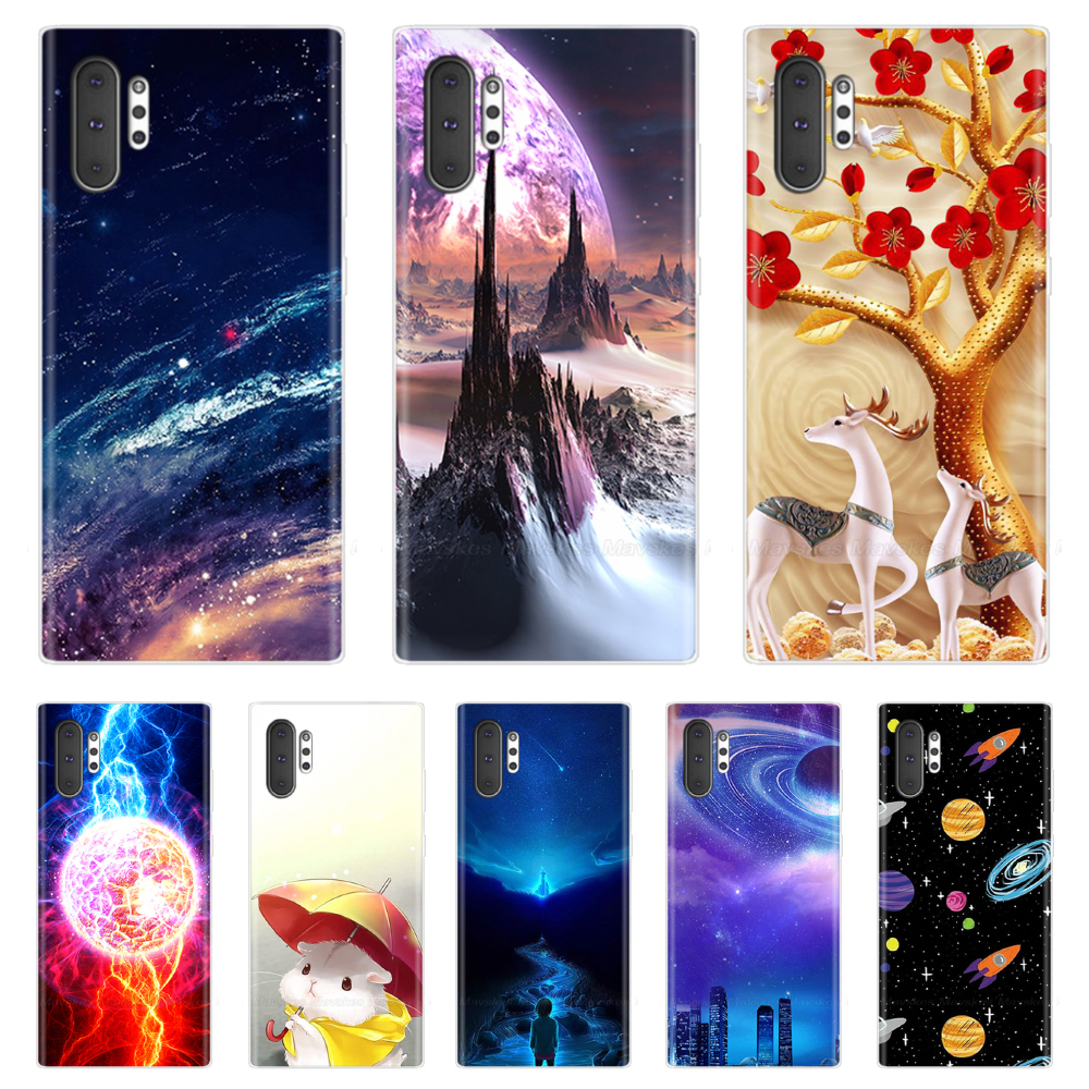 Note 10 Case for Samsung Galaxy Note 10 Case Silicon TPU Soft Back Cover Cartoon Phone Case For Samsung Note 10+ Pro Note10 Plus