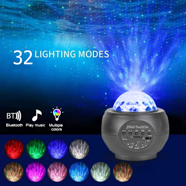 Colorful Starry Sky Galaxy Projector Blueteeth LED Bluetooth Music Player Star Light Remote Control Lamp Projection Night Light