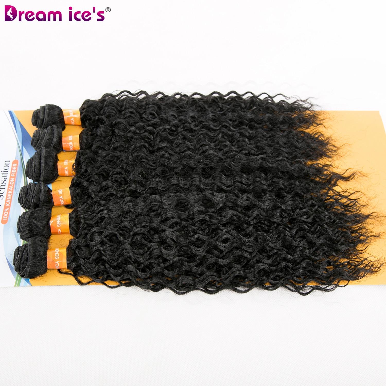 Kinky sintético encaracolado cabelo preto pacotes de