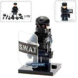 Военный полицейский пистолет Swat, набор армейских воинов Geely, строительные блоки, кирпичный набор, модель MOC Arms, городская полицейская игрушк...