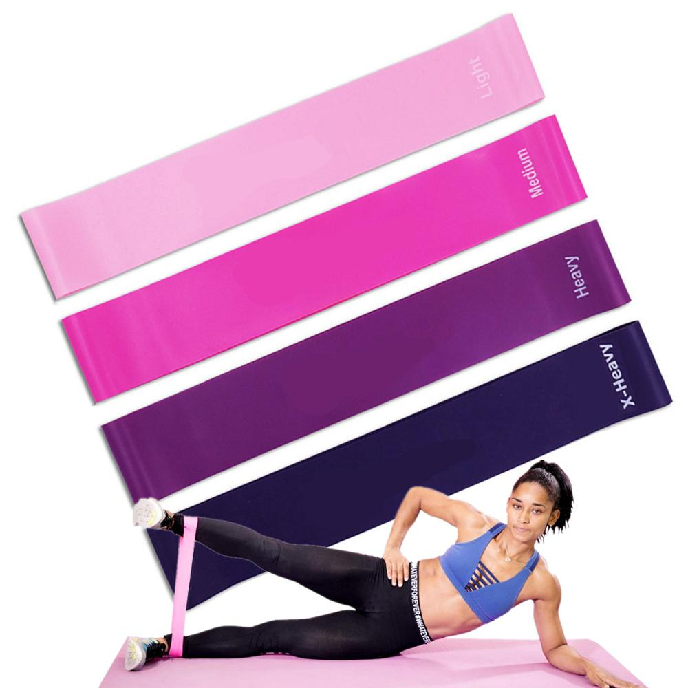 12 Inch Yoga Resistance Bands Rubber Loops Exercise Workout Booties Bands For Legs And Butt Fitness Home Gym Exercise Equipment