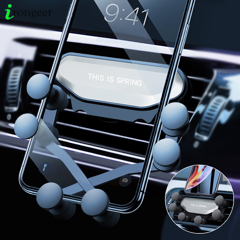 Gravity Car Holder For Xiaomi Mi Note 10 Pro Holders In Car Air Vent Clip Mount Mobile Phone Holder GPS Stand For IPhone 11 Pro