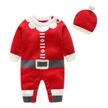 Baby Clothes Winter 2019 My First Christmas Girl From 0 To 1 Year Off Shoulder Sweater Layette Newborn Boy Outfit Costume