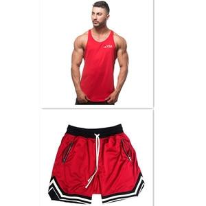 Image 1 - 2019 Summer New Mens Shorts Casual Suits Sportswear Mens Clothing Man Sets Pants Male sweatshirt Men Brand Clothing