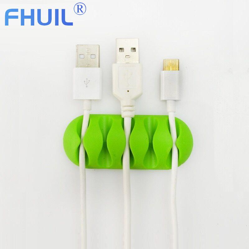 Silicone Protector USB Cable Organizer for Earphone Charger Holder Clips Cable Winder Cable management for Mobile Phone Cables