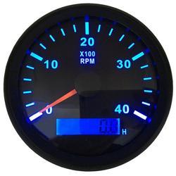 1pc 85mm Rev licznik Instrument 0-4000RPM 316L Bezel tachometry wodoodporne z niebieskie podświetlenie licznik godzin dla samochodów ciężarówka łódź