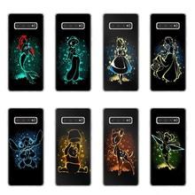 Cute Snow White Alice Little Mermaid Stitch Bambi Case For Samsung Galaxy S6 S7 Edge S8 S9 S10 Plus Lite 5G S10E TPU Phone Cover