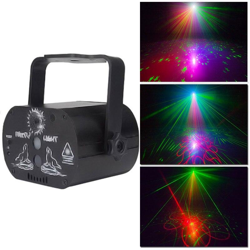 YSH luces denavidad decoration lights indoor LED Holiday Projector Effect RGB Garland Christmas Festival room strobe