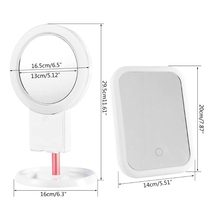 10 Times Magnification LED Makeup Mirror With Light Ladies Makeup  Mirror X7XA