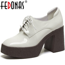 FEDONAS scarpe basse piattaforma donna scarpe tacchi alti in vera pelle per donna scarpe da ballo autunnali con cinturino incrociato