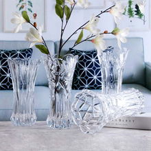 Transparent Water Culture Glass Vase Melodia Crystal Decorative Flower 25cm For Home Garden Church Shop Decor 24.5*12.5*8cm