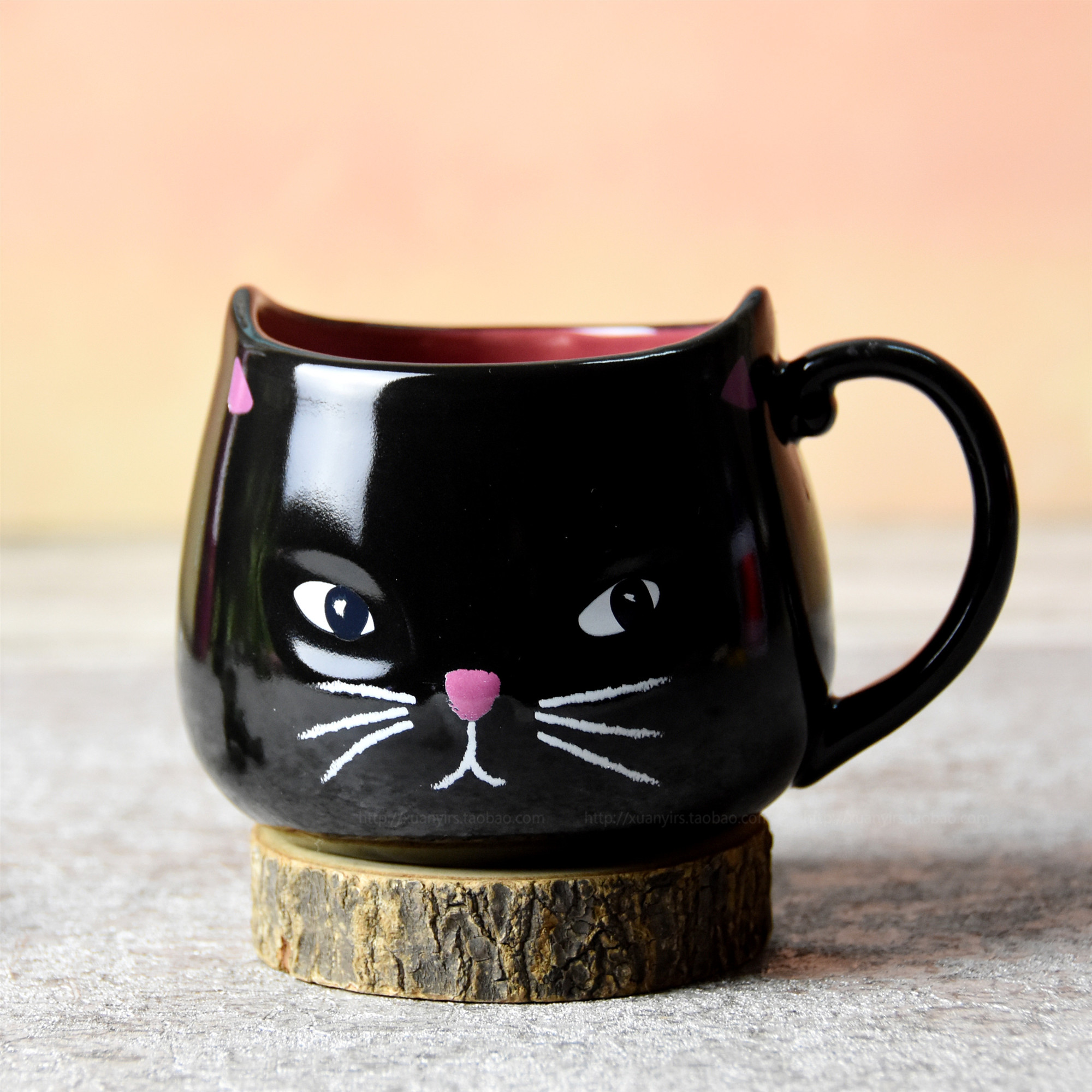 Ceramic Cute Cat Mugs Coffee Tea Milk Animal <font><b>Cups</b></font> With Handle 400ml Drinkware Nice Gifts <font><b>coffe</b></font> <font><b>cup</b></font> Cartoon coffee mug image