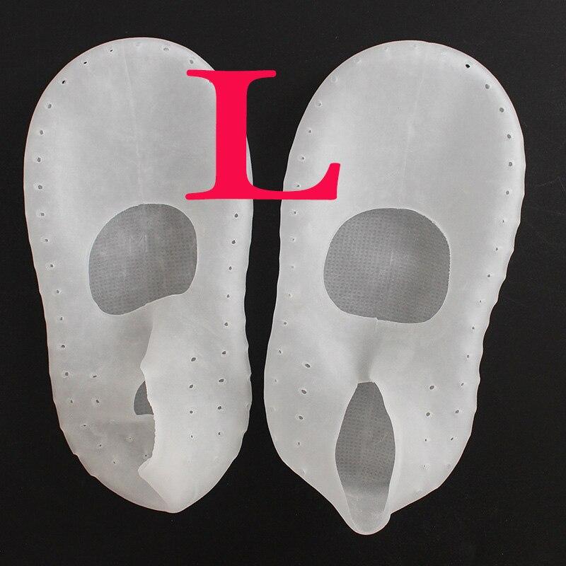 1 пара носки с гелевой подошвой, силиконовый инструмент для ухода за ногами, защита для ног, защита от боли, защита от трещин, увлажнение, удаление ороговевшей кожи, носок с отверстием - Цвет: L Clear 39-41