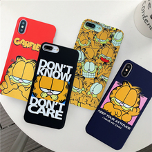 GYKZ Cartoon Garfield Cat Phone Case For iPhone 6 6s X XR XS MAX 8 7 Plus Soft Silicone Back Cover 10 Coque Fundas