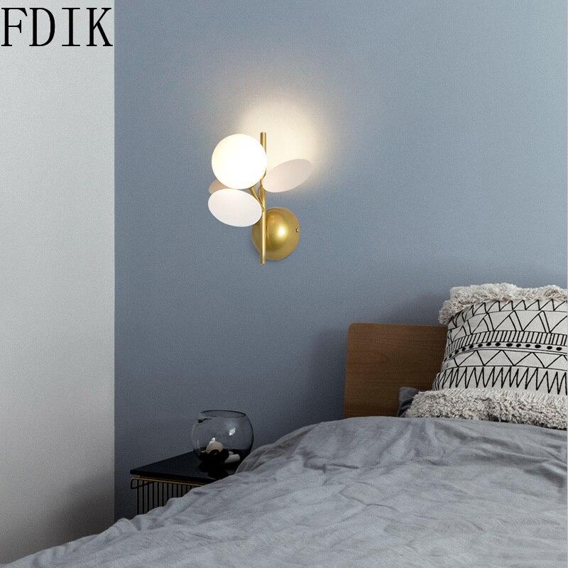 Настенные светильники в виде цветов с одной/двойной головкой, бра для домашнего декора, освещение лофта, Детские лестницы, декоративные нас...