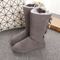 Winter big girl 2019 Children's Snow Boots for Boys and Girls with Cotton Warm and Skid proof Boys and Girls