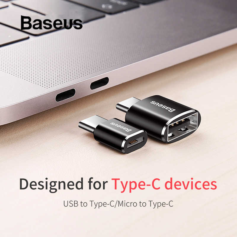 Baseus Micro USB Type C OTG Adapter Mini usb c Male to Micro usb Female otg Adapter Micro USB to USB C for date transmission