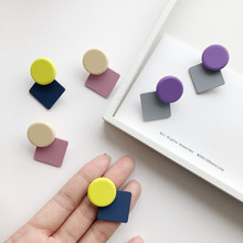 The new spring and summer fashion popular geometrical stud earrings popular web celebrity street snap earrings adorn article the new european and american fashion earrings contracted dazzle colour hollow out long wings ms popular earrings adorn article