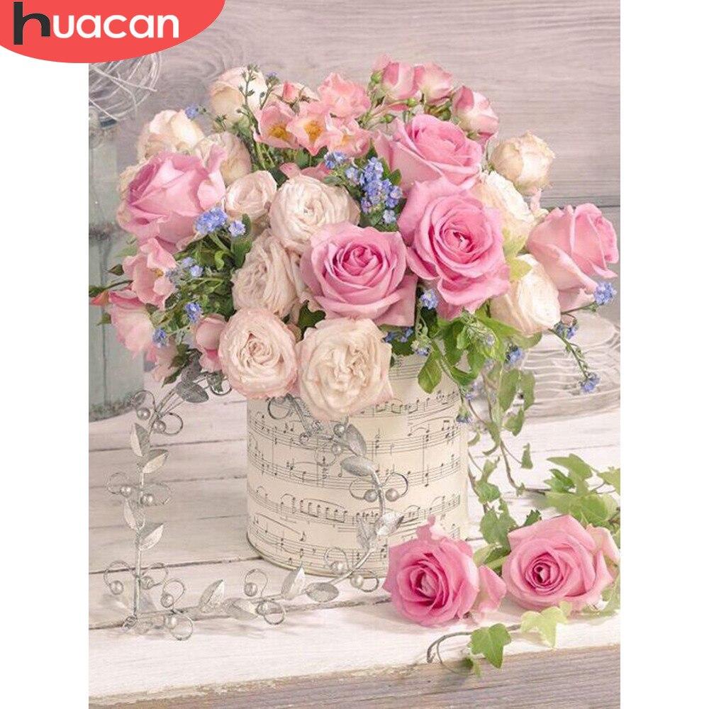 Набор для вышивки крестиком HUACAN, Алмазная мозаика с квадратным сверлом, алмазная вышивка, украшения для свадьбы|Алмазная роспись, вышивка крестом|   | АлиЭкспресс