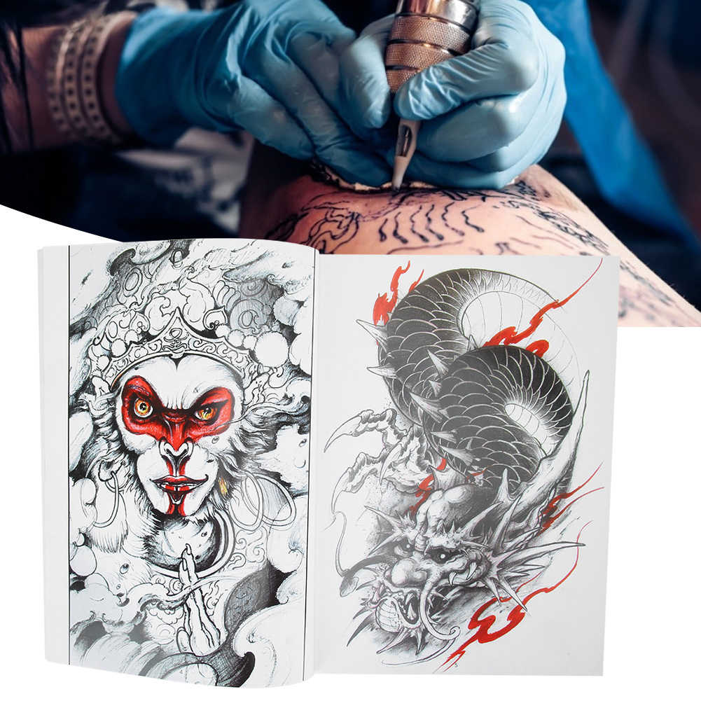 70 Pagina 'S Tattoo Practice Template Boek Shader Foto Kleur Tattoo Boek Accessoire Microblading Permanente Make-Up Tattoo Supply