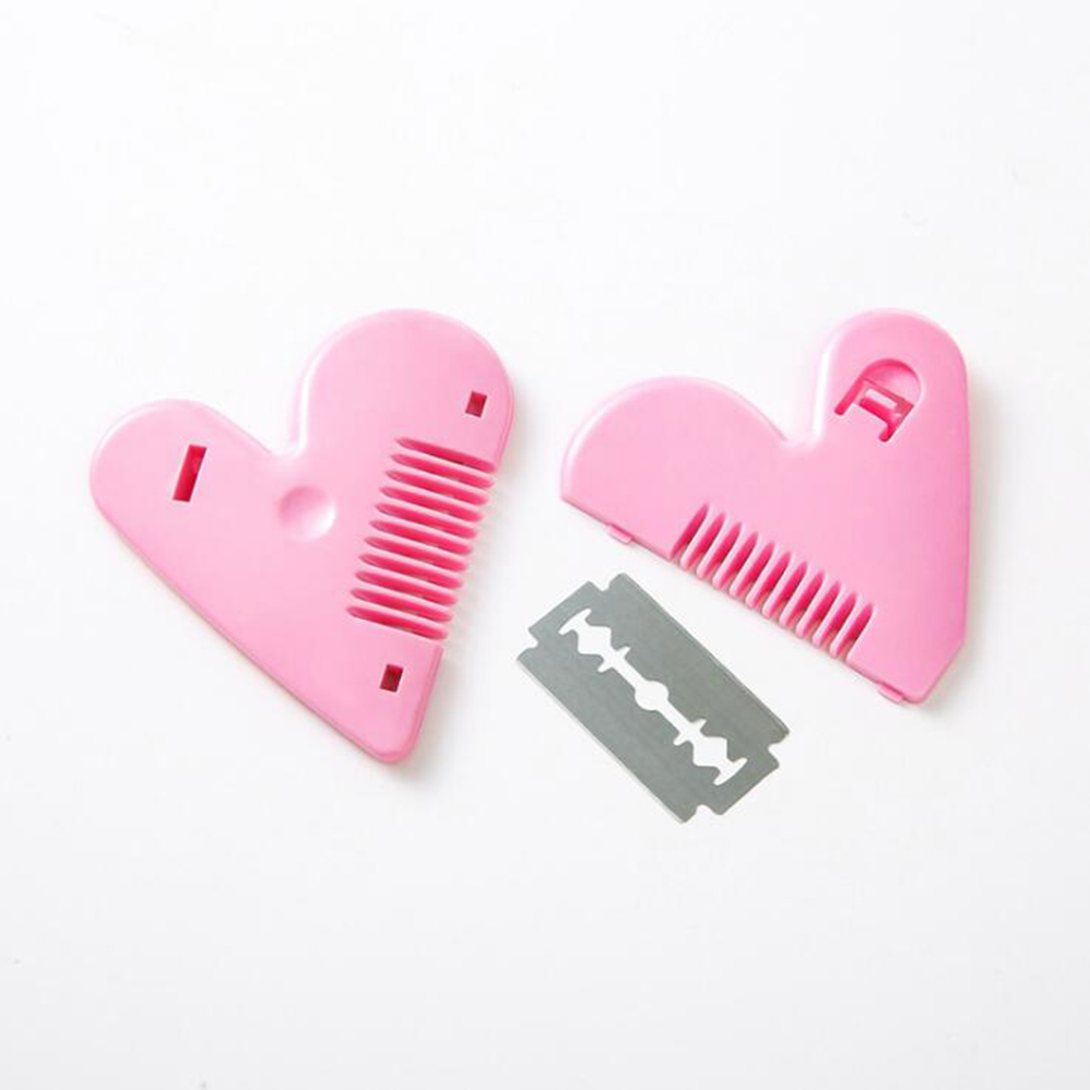Heart Shape Double-sided Hair Cutting Comb Hair Remover Trimming Tools Women Mini Trimming Accessories Dropshipping