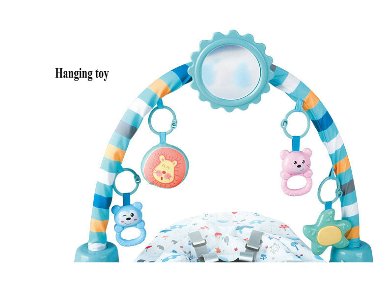 He7d5af7664d54ffa934790399dc6ae5ev Baby Rocking Chair Newborn Electric Toy Fitness Frame Children Music Folding Swing Multifunction Comfortable Recliner Rattle