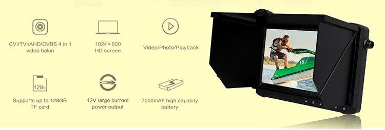 He7d5bd230a9842608754ba34f77ba47cx - Outdoor 5/ 7 inch AHD DVR monitor recorder (HD TVI/CVI/AHD/CVBS analog 4 in 1) 4 times zoom function