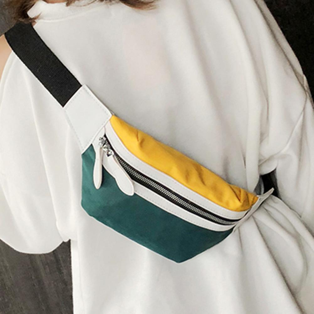 Canvas Fanny Pack Banana Waist Bag Belt New Brand Bag On A Belt Women Waist Pack Contrast Color Chest Bag Phone Pouch Belly Bag
