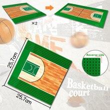 цена на 32x32 Dots City Road Football Basketball Court Field Baseplate Baseboard Building Blocks Base Plate DIY Creator Bricks Kids Toys