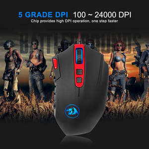 Image 4 - Redragon Perdition M901 USB wired Gaming Mouse 24000DPI 19 buttons programmable game mice backlight ergonomic laptop PC computer