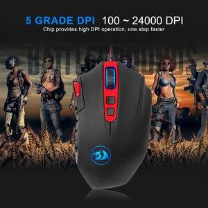 Image 4 - Redragon perdition m901 usb wired gaming mouse 24000 dpi 19 botões do jogo programável ratos backlight ergonômico computador portátil